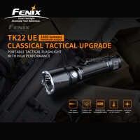 Actualización táctica clásica Fenix TK22 UE 1600 lúmenes linterna táctica portátil con batería de iones de litio de 5000mAh