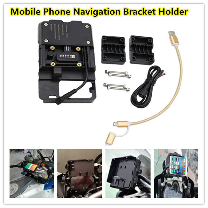 Motorcycle USB Charger Phone Holder Stand Motorcycle Phone Navigation Bracket Holder For BMW R1200GS ADV S1000XR R1250GS ADV