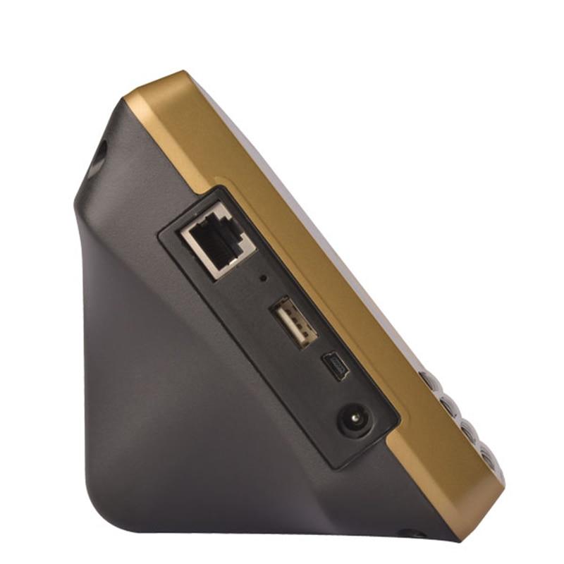Machine de présence de temps de visage DC5V biométrique code d'empreintes digitales u-disk USB tcp/ip BS Wifi RFID carte employé de bureau Excel exportation - 2
