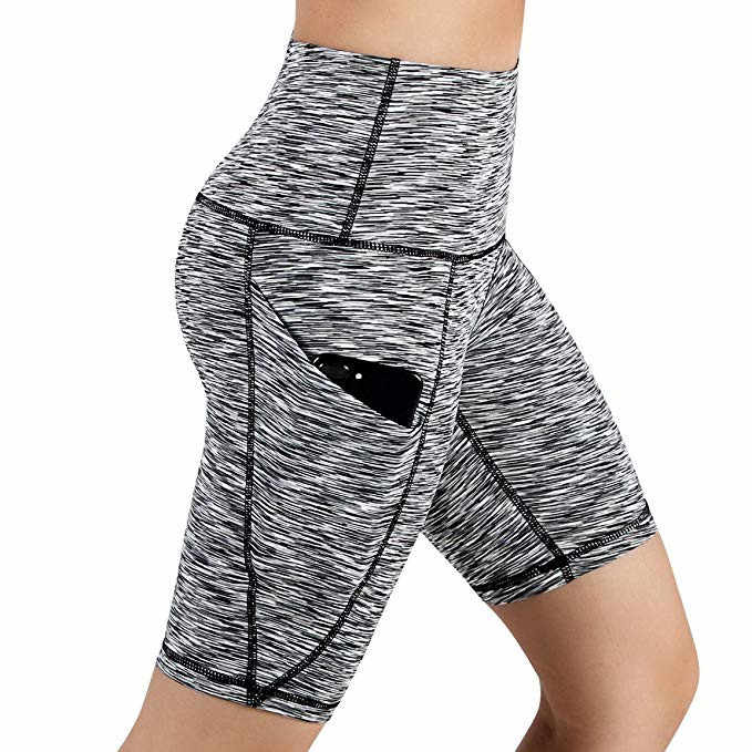 High Waist Out Pocket Yoga Shorts Short Lady Running Athletic Casual Workout Leggings Women's Exercise Fitness Trousers#LR4
