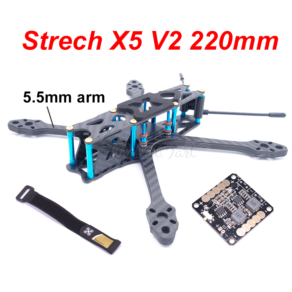 Strech X5 V2 220 220mm w 5 5mm Arm Freestyle FPV Racing Quadcopter Frame Kit Upgrade