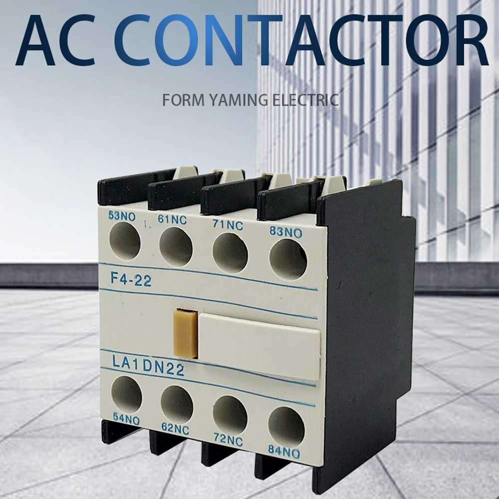 LA1-DN22 F4-22 2NO+2NC Contactor block Auxiliary The auxiliary contact for CJX2 LC1-D AC Contactor 4 Poles