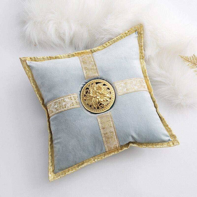 Velvet  Cushion With Censer Luxury Royal Home Decoration Seat Cushion Sleep Pillow Square Cushion 30cm
