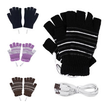 Electric Heating Gloves Winter Thermal USB Heated Gloves Electric Heating Glove Heated Gloves stylish usb heated warm gloves purple white pair