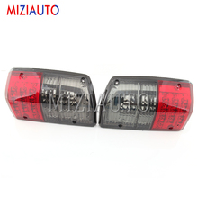 1PCS Red and Smoked Tail Light For Nissan Patrol GQ 1988 1988-1997 Series Warning Brake turn signal taillights