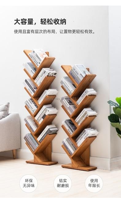 Floor Tree-Shaped Creative Bookshelf 3