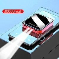 30000mAh Power Bank dla iPhone7 XiaomiMi mini Powerbank Powerbank ładowarka dwa porty usb zewnętrzna ładowarka do baterii przenośna w Powerbank od Telefony komórkowe i telekomunikacja na