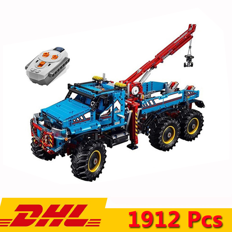 Technic Series The Ultimate All Terrain 6X6 Remote Control Truck Building Block 20056 90038 1912pcs Bricks Kits Toys image