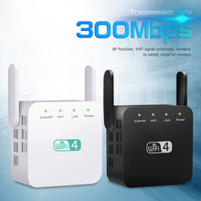 Wifi Repeater Router Signal-Booster Range-Extender Long-Range Amplifier 300mbps 3-Antenna