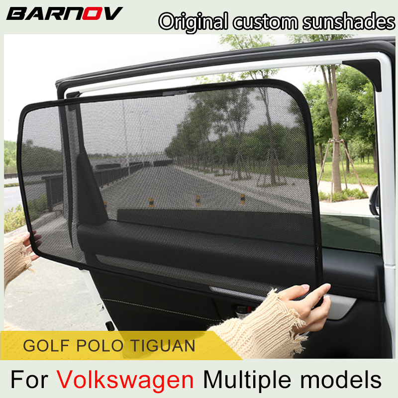 Car Special Magnetic Curtain Window SunShades Mesh Shade Blind Original Custom For Volkswagen Tiguan Golf Polo-Mk4 Mk5 Mk6 Mk7