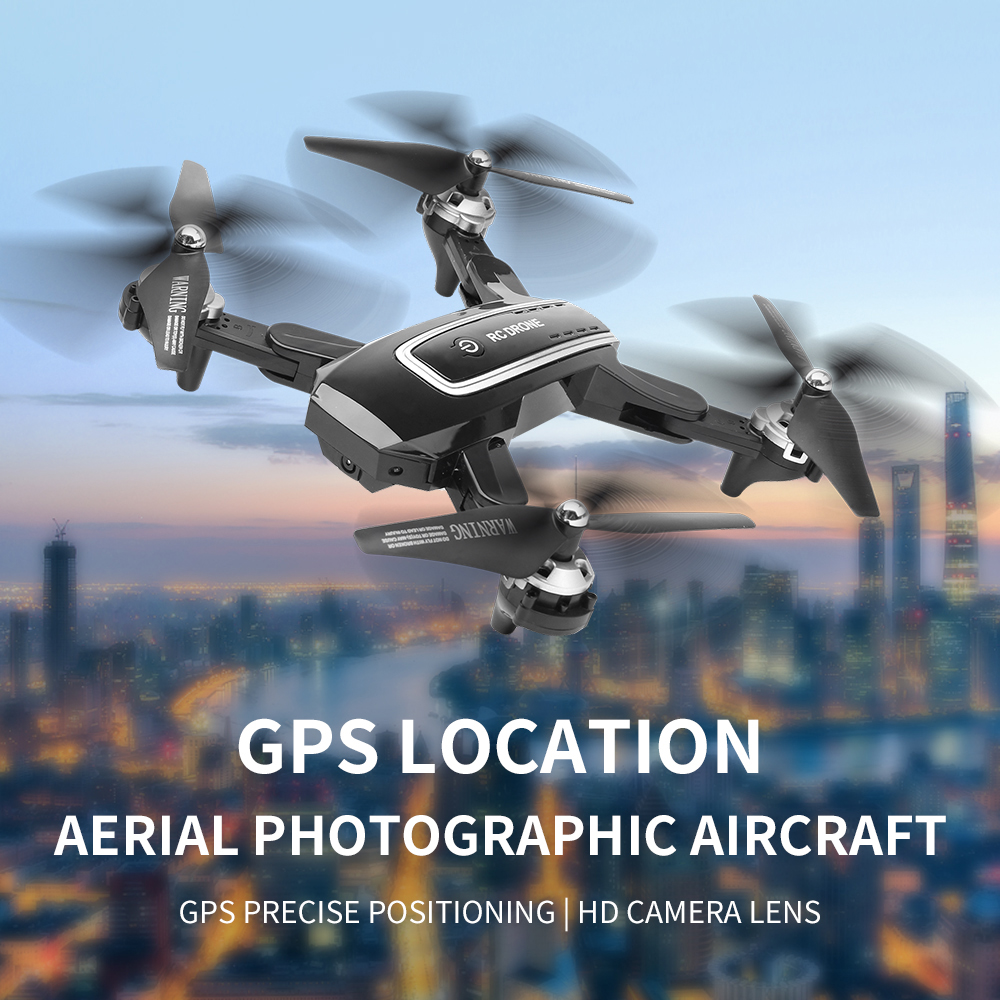 Lozenge HJ38 GPS Drone 4K Camera Foldable Altitude Hold RC Quadcopter Helicopter Follow Me WiFi