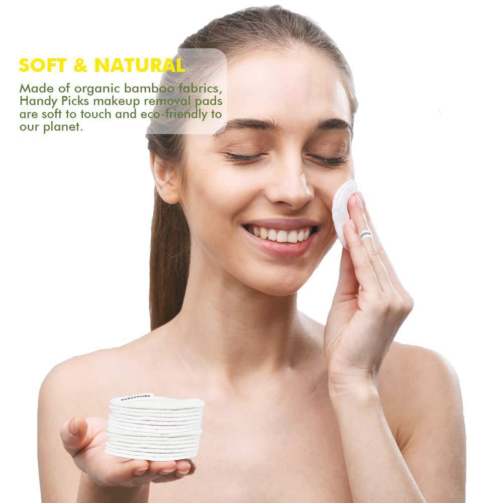 20 pcs set fibra de bambu almofadas de enfermagem de cuidados da pele facial de limpeza