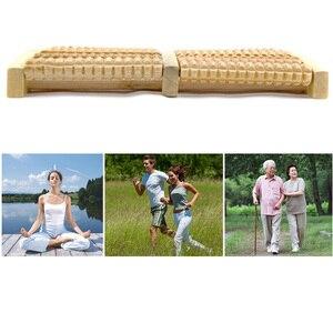 Image 5 - Rouleau de Massage pour les pieds en bois brut, 5 réflexologie, appareil de Massage relaxant, Anti Cellulite, cadeau, Spa, soins pour les pieds
