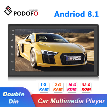 Podofo 7'' Android Car Multimedia player 2 Din Touch Screen Autoradio Bluetooth WIFI 2DIN Auto Audio For VW Nissan Hyundai KIA image