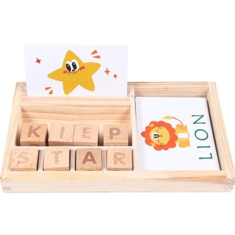 de madeira jogo de palavras de ortografia ingles letras do alfabeto criancas primeiros brinquedos educativos