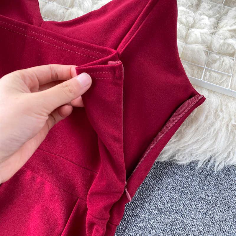 Gagarich Vrouwen Zomer Jumpsuit Dames Sexy V Nexk Spaghetti Band Lange Broek Femme Rijk Taille Rechte Bodysuit Chic