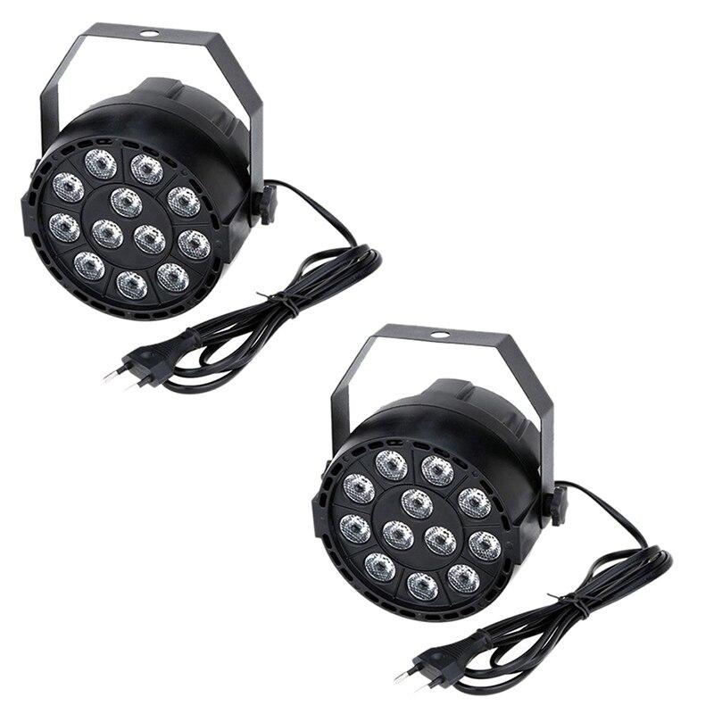 Işıklar ve Aydınlatma'ten Sahne Aydınlatması Efekti'de 2x15 W DMX 512 RGBW LED dj ışığı etkisi disko aydınlatma 8 kanal AC 100 240V title=