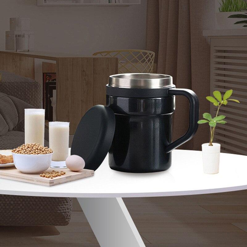 BAISPO кружка из нержавеющей стали с автоматическим перемешиванием, Термокружка с магнитным нагревом, чашка для смешивания кофе, молока, батарея не требуется - 2