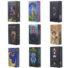 27 style tarot cards mysterious divination fate personal playing cards game for women English Angel tarot deck board game