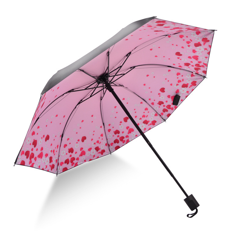 Folding Umbrella Sun-resistant Parasol Vinyl Rain Or Shine Dual Purpose Umbrella Parasol MORI Series Fresh Umbrella 8 Bone Manua
