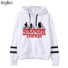 Nagodo stranger things hoodies winter bts letter print sweatshirt women sudadera