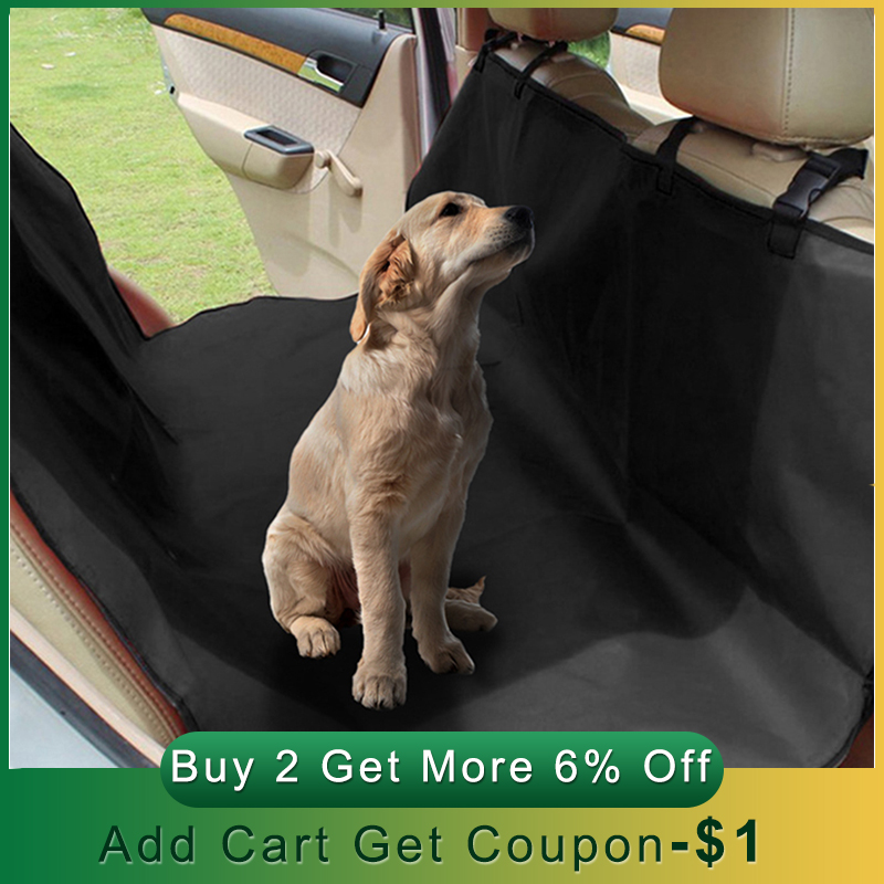 Waterproof Dog Car Seat Cover Pet Dog Seat Cover Car Rear Back Mat Anti Scratch Seat Covers Roap Trip Travel Blanket for PetsDog Carriers   -
