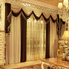 Europeu-estilo cortinas sala de estar atmosfera americano-estilo sombra engrossado veludo simples cortina terminado personalizado