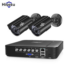 Hiseeu HD 4CH 1080N 5in1 AHD DVR Kit CCTV System 2pcs 720P/1080P AHD waterproof/bullet Camera 2MP P2P Security Surveillance Set(China)