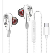 Type-C Earphones Dual-Dynamic Quad-core In-ear Sport Earphones Noise Isolation Headsets with Mic For Universal Mobile Phone oyuntuya shagdarsuren tackling isolation in rural mongolia