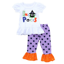 Get more info on the Cute Halloween Newborn Baby Girls Clothes Set Baby Girls Boys Letter Print Tops+Dots Pants Halloween Outfits Set 9.10