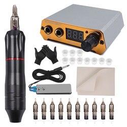 Professional Tattoo Rotary Pen Tattoo Kit 10pcs Cartridges Machine Mini Power Set Tattoo Studio Supplies