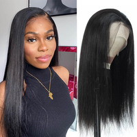 16 28 inch long straight full lace wig remy transparent HD lace Brazilian human hair 360 lace frontal wigs pre plucked