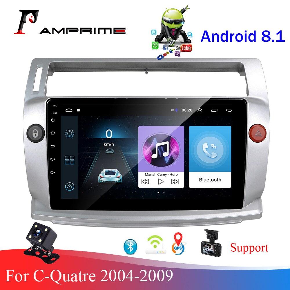 AMPrime 2Din Android GPS 2.5D Автомобильный мультимедийный плеер Wifi FM стерео для Citroen C4 C-Triomphe C-Quatre 2004-2009 автомобильное радио