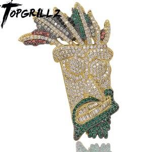 Image 1 - Ожерелье с подвеской Iced Out UKA, Мужская/Женская микро подвеска в стиле хип хоп золотого/серебряного цвета, блестящие брелоки, украшения, подарки