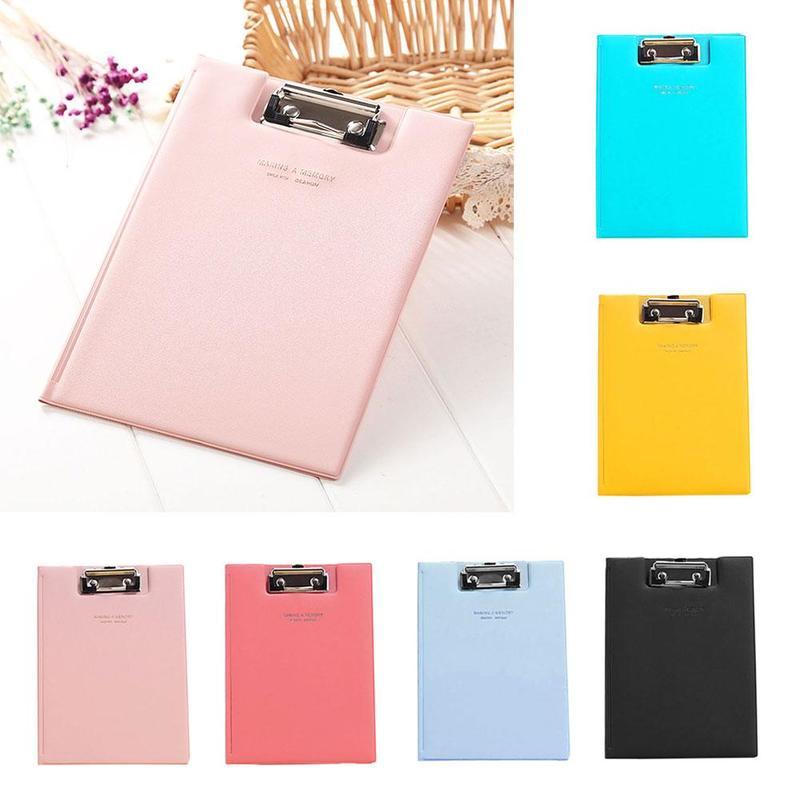 1piece Multi-color A5 Folder Waterproof Clipboard Writing Pad Folder Data Folder Student School Office Stationery Supplies