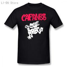 Черная Мужская футболка caifanes с рок группой Красная логотипом