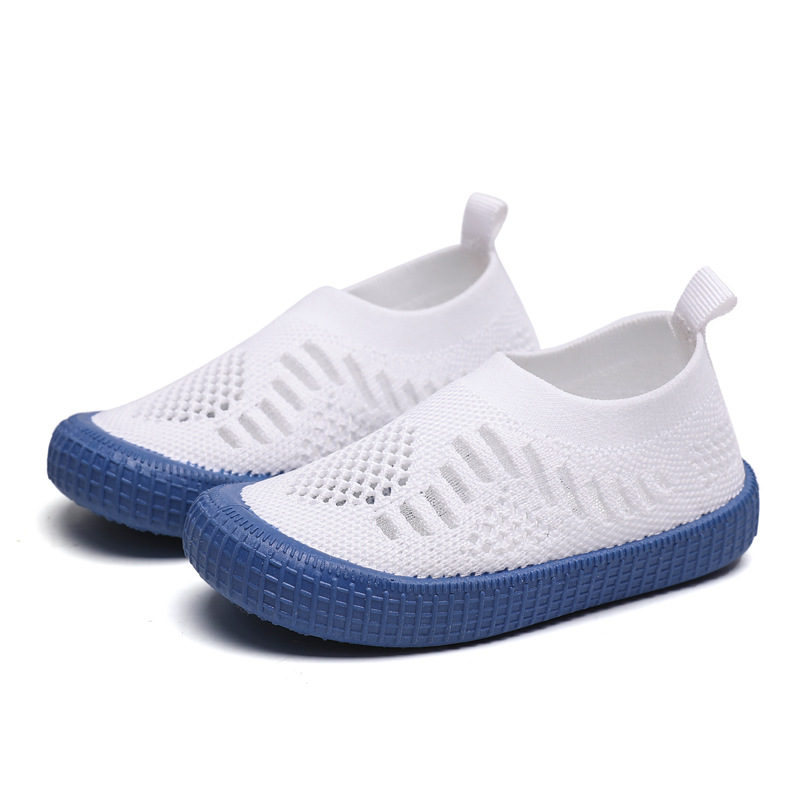 Kids Shoes Boys Shoes Children's Sneakers Girls' Sneakers Casual Soft Fashion Breathable Stretch Fabric White Shoes Cut-outs New