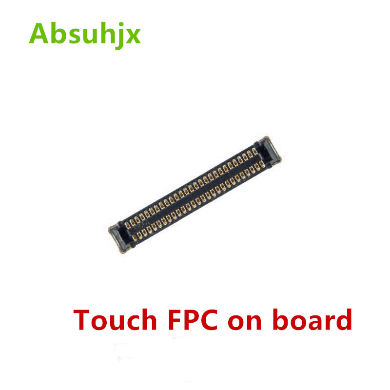 Absuhjx 10pcs Touch Screen Display FPC Connector Port On Board for iPhone 5S 6 6S 7 Plus LCD Display Logicboard FPC Parts