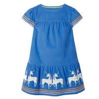 Vestidos da menina da criança verão animal floral algodão crianças vestidos para meninas roupas listrado crianças vestido casual princesa traje