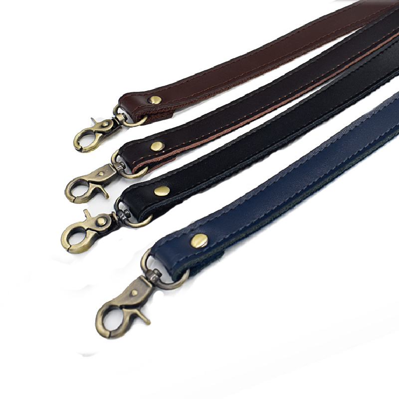 Hot Leather Shoulder Bag Strap DIY Handle Handbag Replacement Bag Belt PU Handmade Blue Black Bag Strap Women Metal Buckle Belt