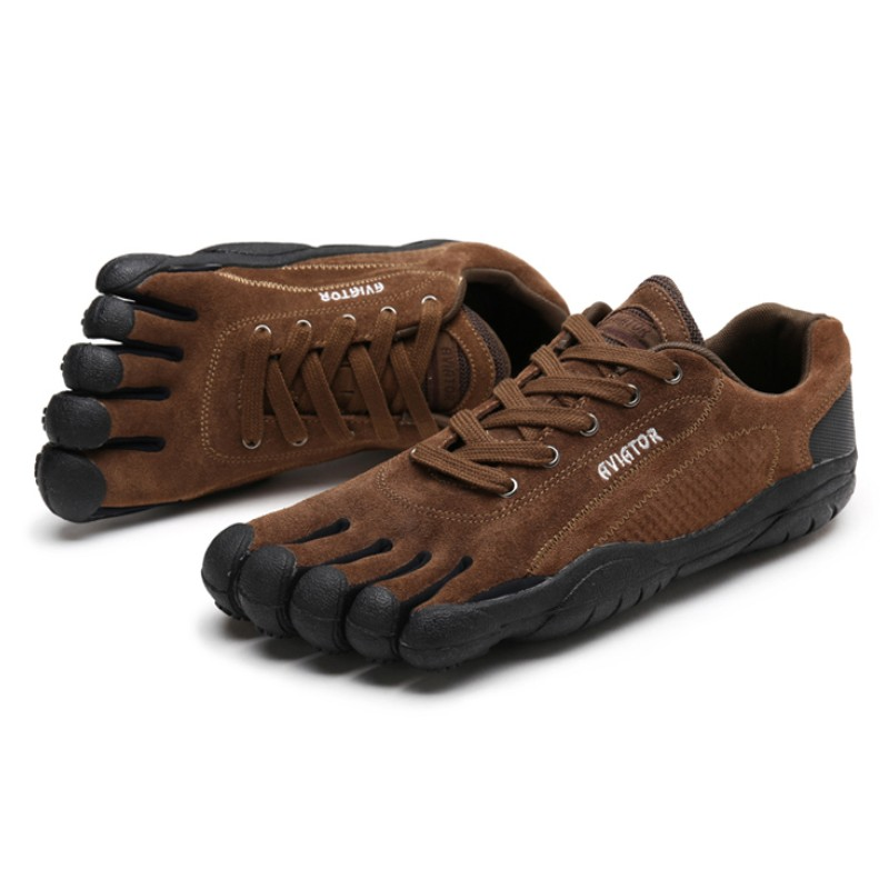 Lightweight Men's And Women's Five-finger Shoes 5 Toe Leather Sneakers Quick-drying Walking Shoes Non-slip Upstream Shoes