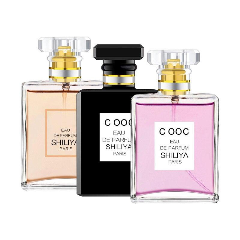 Perfume feminino 50 ml fragrância de longa duração para feminino flor parfum feminilidade natural senhora garrafa de vidro atomizador água