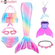 NEW Swimming Mermaid Tail Bikini for Beach Lovely Mermaid Costume Cosplay Mermaid Princess Party Girls Dresses