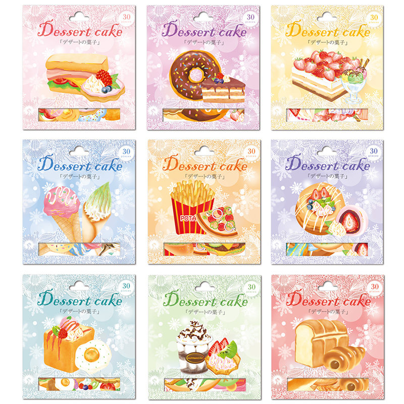 30 Pcs/pack Stationery Stickers DESSERT Food Diary Planner Decorative Mobile Stickers Scrapbooking DIY Craft Stickers