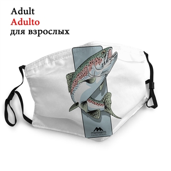 Rising Trout Non-Disposable Face Mask Fishing Fish Fisherman Anti Dust Mask Protection Mask Respirator Mouth Muffle