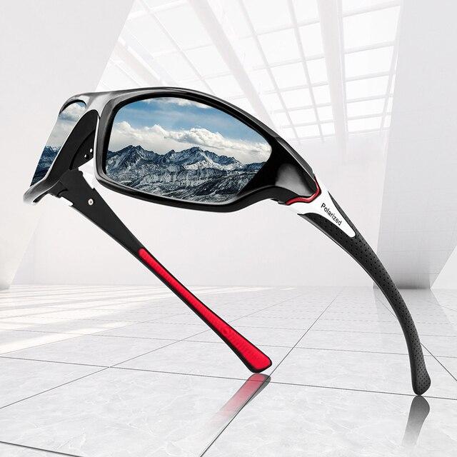 Black |Red frame polarized sunglasses for men