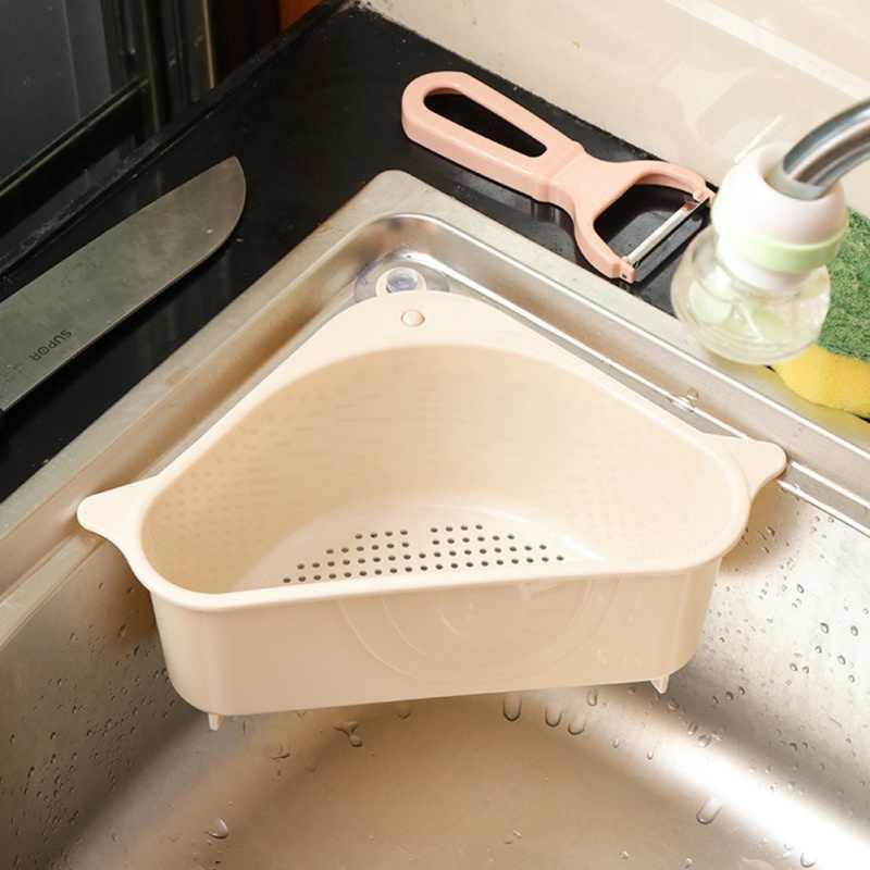 Kitchen Accessories Sink Drainer Triangle Storage Rack Rack Kitchen Removable LC