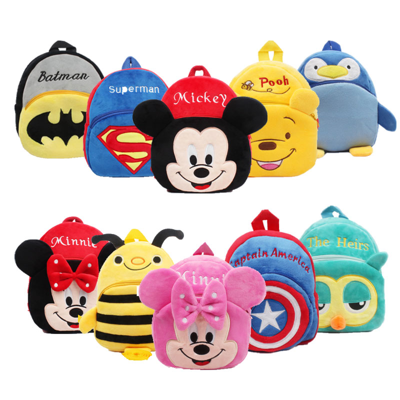 Disney Plush Backpack Cute Backpack Mickey Mouse Bag Minnie Backpack Children's Gifts Outdoor Travel Cartoon Kindergarten Bag