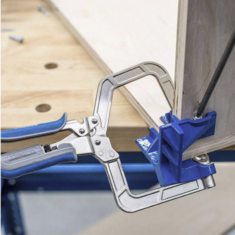 Home Cabinet Right Angle Fixed Punch Mounter 90 Degree Woodworking Tool Clamp