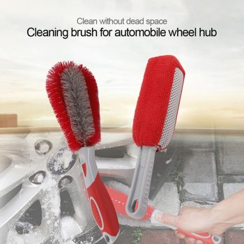 Car Rim Cleaning Brush Tire Detail Brush Car Wheel Wash Brush Wheel Rims Tire Washing Brush Auto Scrub Brush Car Wash Tools image